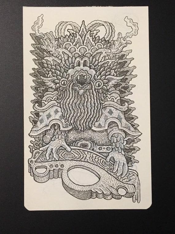 19. Original watercolor sketchbook page