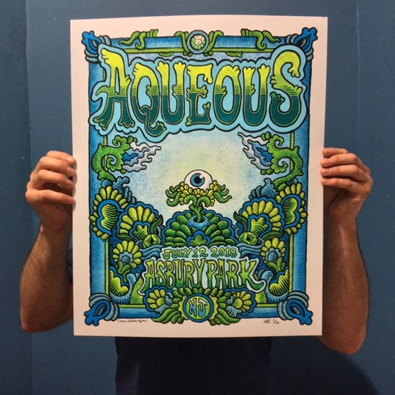AQUEOUS Asbury Park, NJ 2018 Poster