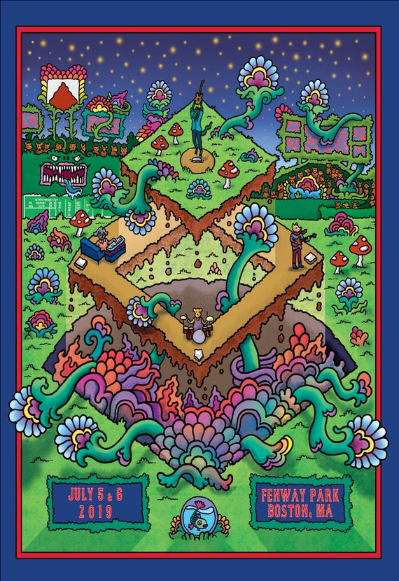 Phish at Fenway Poster 2019