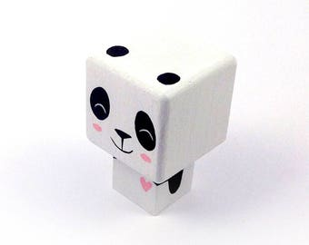 "Magnet cubic figurine ""Panda"" heart pink"