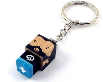 "Cubic Key ring ""bearded"""