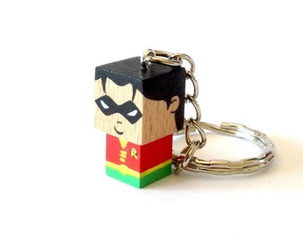 "Cubic Key ring ""Robin"""