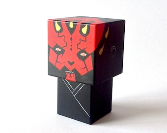 "Cubic wooden figurine ""Darth Maul"""