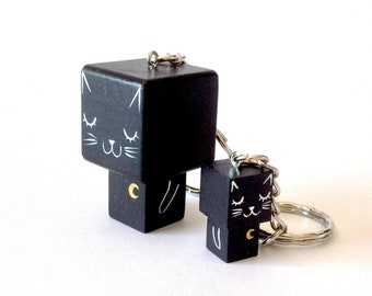 "Cubic key ring ""Black Cat"""