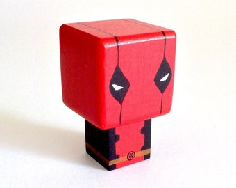 "Magnet figurine cubic superhero ""Deadpool"""