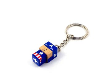 "Cubic Key ring ""Captain"""