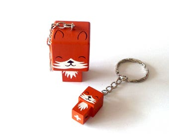 "Key ring Cubic Figurine ""Fox"""