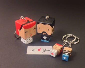 Couple - love - Valentine's day Keyring
