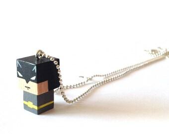 """Pendant cubic figurine """"Batman"""" ball chain necklace"""