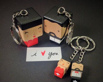 Chic couple - love - Valentine's day Keyring