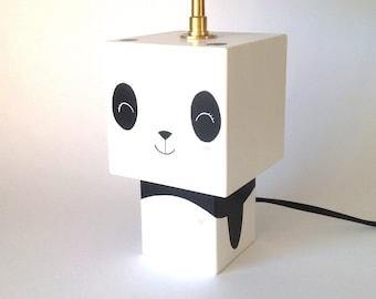 """Panda"" cubic Figurine lamp"