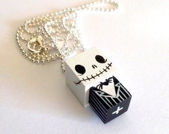 "Cubic figurine pendant ball chain necklace ""Jack"""