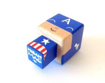 "Magnet figurine cubic superhero ""Captain America"""