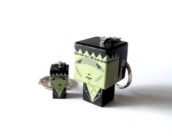 "Cubic Key ring ""Frankenstein Creature"""