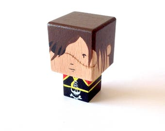 "Magnet figurine cubic pirate ""Captain Harlock"""