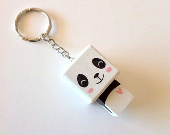 Cubic Key ring Panda