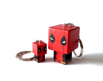 "Cubic Key ring ""Deadpool"""