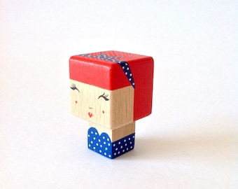 "Magnet cubic figurine ""Pin-up dress strapless + headband"""