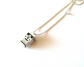 "Pendant cubic figurine ""Stormtrooper"" ball chain necklace"