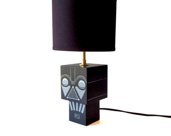 "Small lamp cubic figurine ""Dark"""