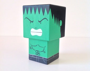 "Cubic figure superhero ""Hulk"" (size M) - hand painted"
