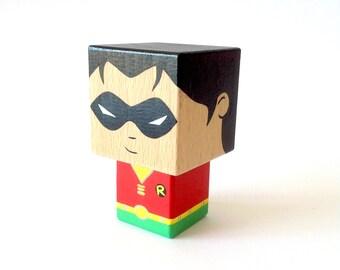 """Cubic figure superhero """"Robin"""""""