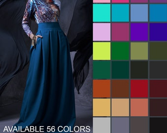 Maxi Skirt, Long Skirt, Boho Skirt, Pleated Maxi Skirt, Women Skirt, Bridesmaid Skirt, Gypsy Skirt, Plus Size Skirt, A Line Skirt,Women Gift