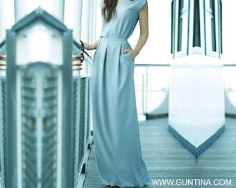 Gray Skirt, Maxi Skirt, Plus Size Skirt, Long Skirt, Pleated Skirt, Full Skirt, Wedding Skirt, Women Skirt, Bridesmaid Skirt, Designer Skirt