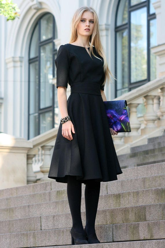 Plus Size Clothing Black Cocktail Dress Womens Black Dress Etsy