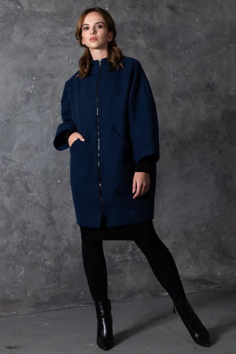 5765b7e44e9 Winter Coat Dark Blue Coat Coat For Women Plus Size