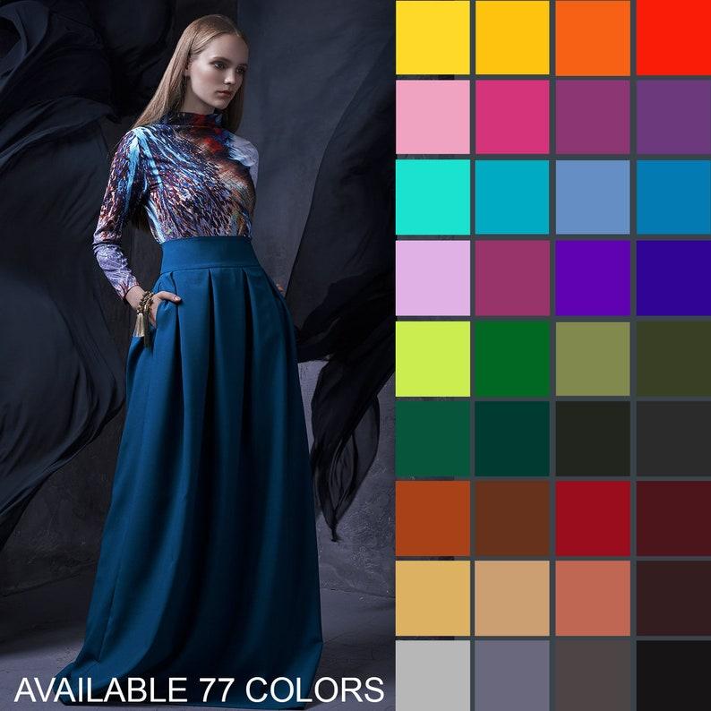 Maxi Skirt Ball Skirt Long Skirt High Waist Skirt Boho image 0