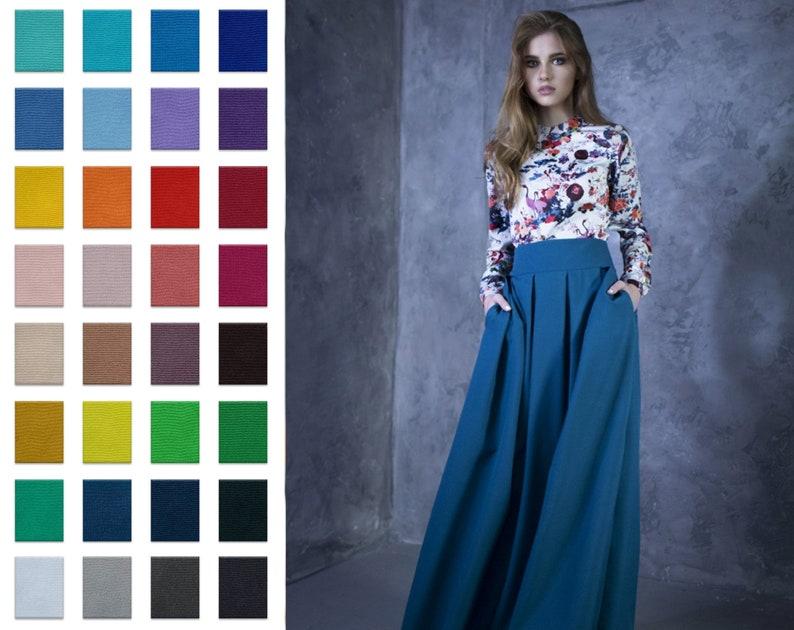 Maxi Skirt Ball Skirt Long Skirt High Waist Skirt Boho image 1
