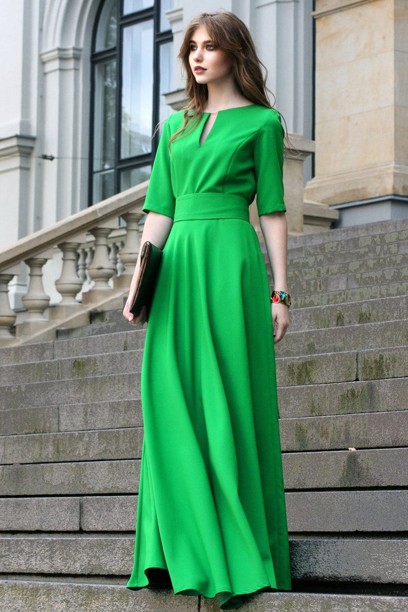 4ae74d846 Casual Dress, Maxi Dress, Going Green Dress, Trendy Plus Size Clothing,  Ball Gown Dress, Bohemian, Oversized Dress,St Patricks Day Dress