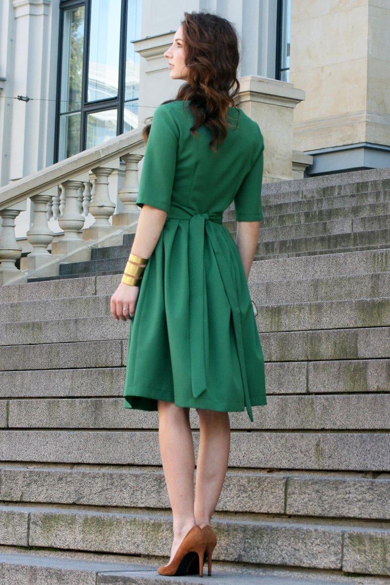 e9be59e7081 Fall Dress Plus Size Dress Oversized Dress Dark Green