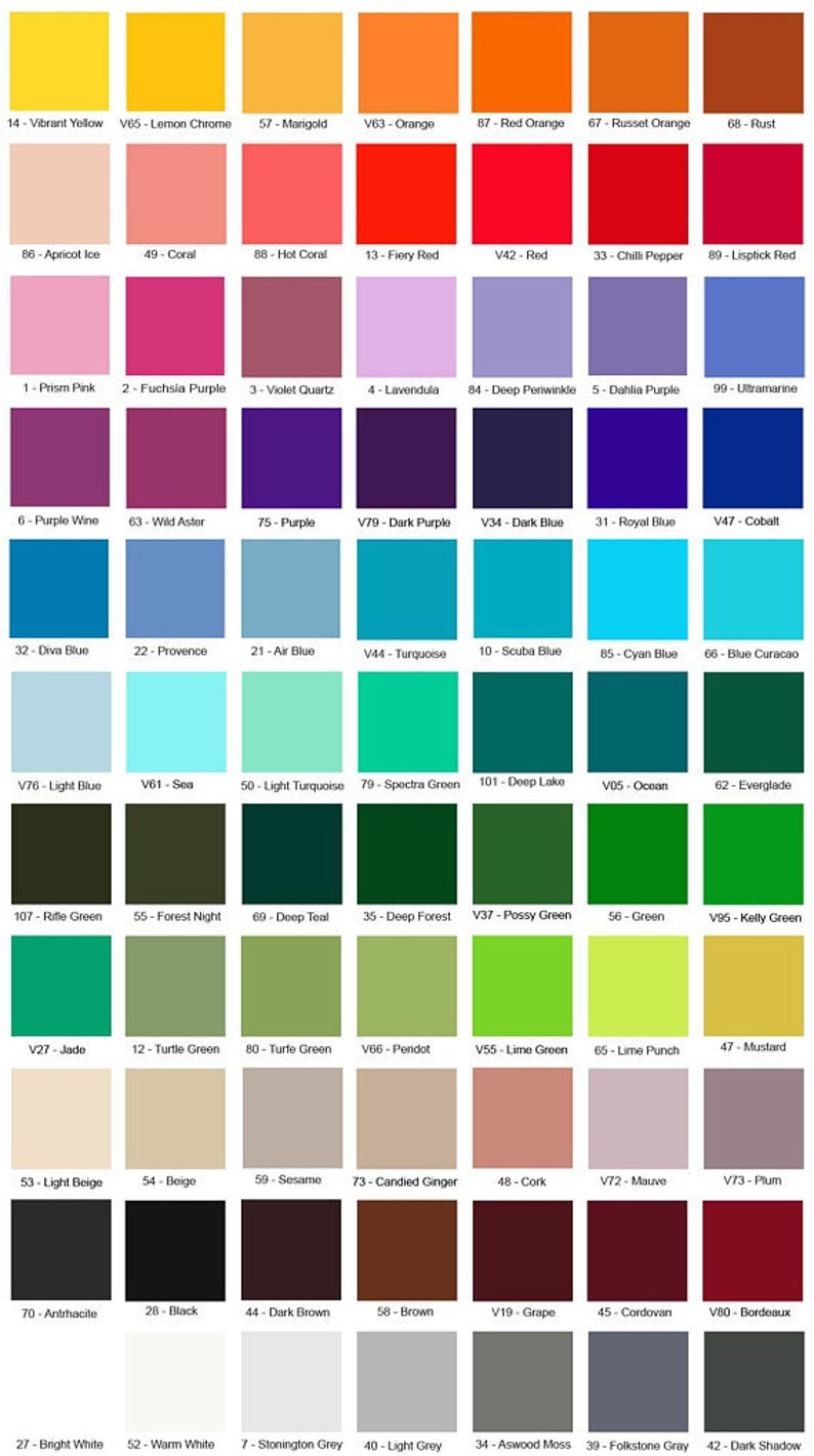 Color swatches for skirts and some dresses