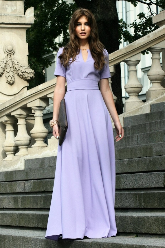 Light Purple Dress Maxi Dress Floor Length Dress Maxi Long  ac32792947