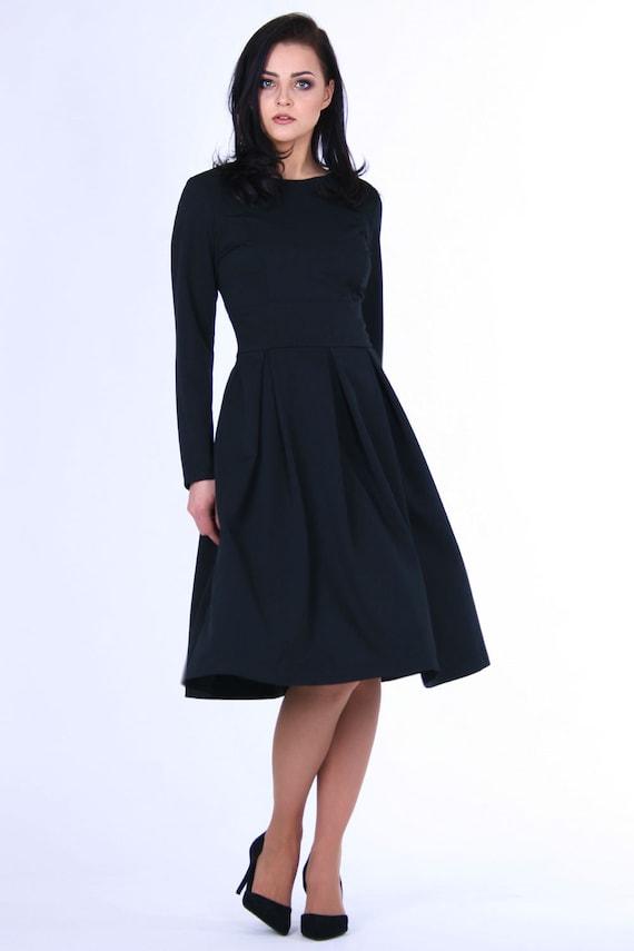 Plus Size Clothing Black Dress Midi Dress Formal Dress Etsy