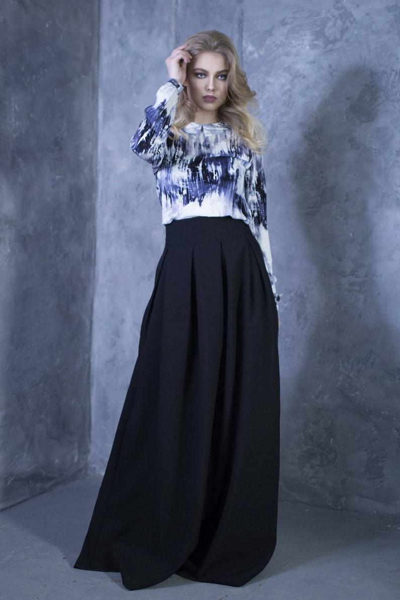 4634de8274 Black Skirt Plus Size Maxi Skirt Gothic Skirt Steampunk | Etsy