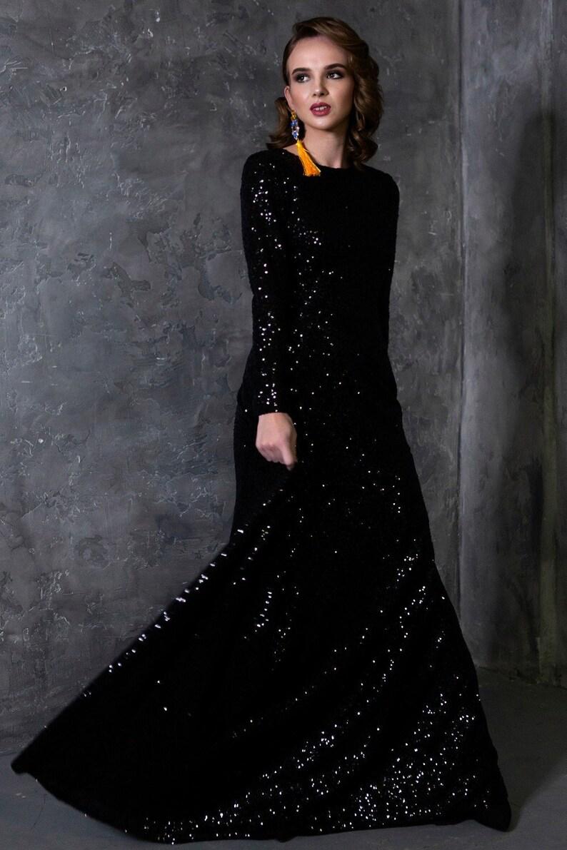 1ca85a008a6f9f Glitter Dress Black Dress Maxi Dress Women Dress Floor