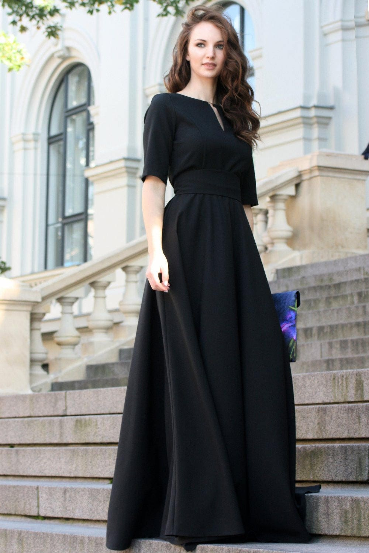 Black Party Dress Black Dress Women Maxi Dress Floor Length  85750bc5b