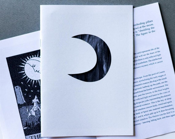 Art Zine - 'Everything I Know About The Moon' fanzine with laser cut cover