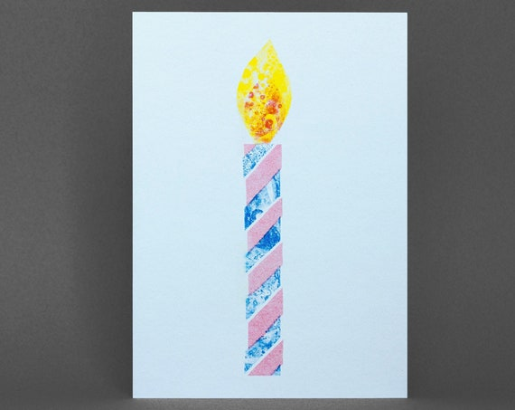 Candle Card - Risograph Printed
