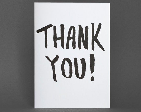 Thank You Card - Risograph Printed
