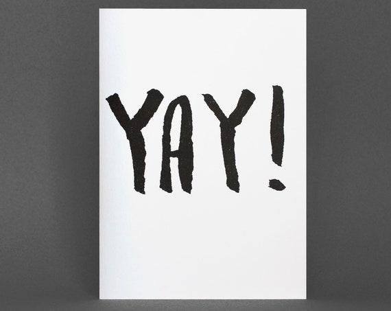 Yay Card - Risograph Printed Card