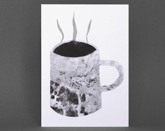 Mug Card - Risograph Printed