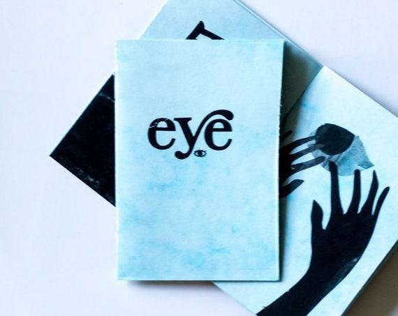 Eye Zine - tiny art zine, illustrations printed on marble paper