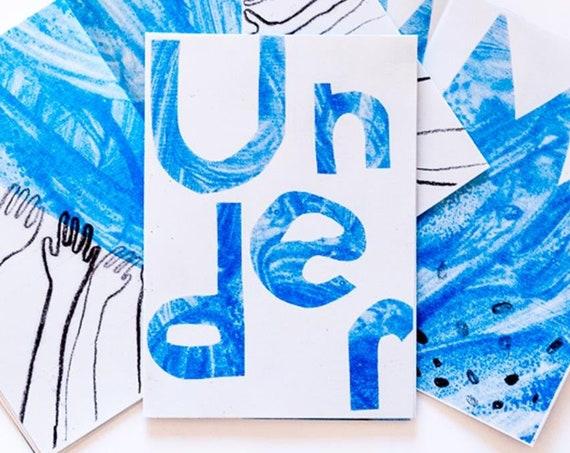Risograph Zine - 'Under' - illustrated A6 art zine