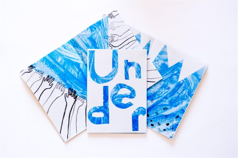 Risograph Zine  'Under'  illustrated A6 art zine image 0