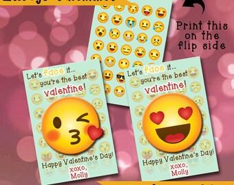 Emoji Valentine Etsy