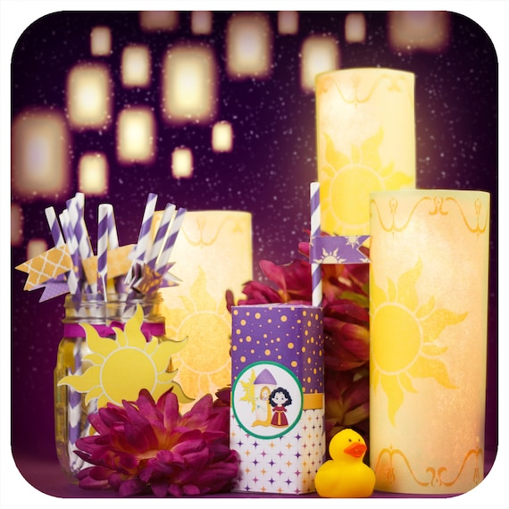 Tangled Party Tangled Pdf Birthday Party Banner Rapunzel